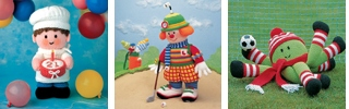 Little Gift Dolls, Golfing Clown, Toy Collection