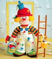 Jean Greenhowe Designs Official Website - Knitted Clowns knitting patterns, k...