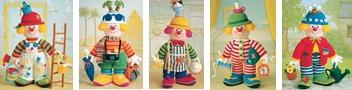 Sidney Slapstick, Godfrey Gadabout, O. Yummy, Mr Fortywinks, Bertie Bloomer