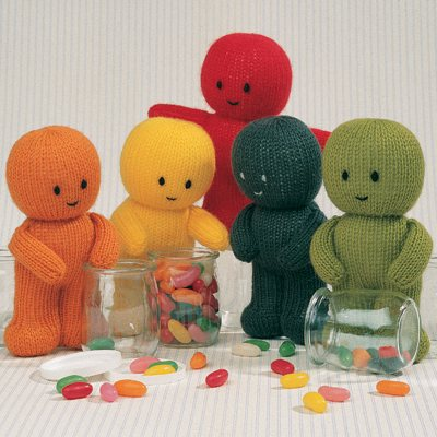 Knitting Pattern For Jelly Babies : Jean Greenhowe Designs - Little Gift Dolls