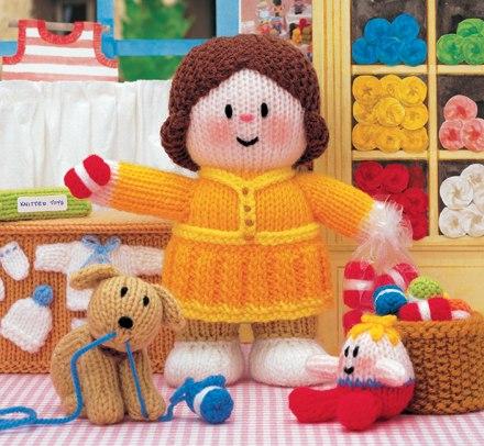 Knitting Pattern Books Toys : Jean Greenhowe Designs - Little Dumpling Ladies