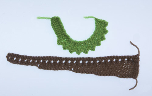 Knitted pieces