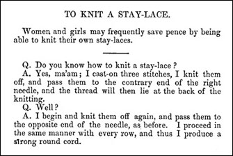To Knit a Stay-Lace